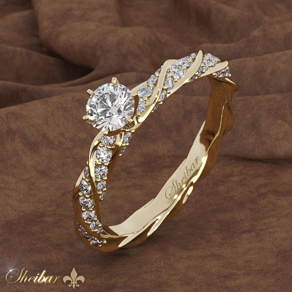 תוצאת תמונה עבור טבעות אירוסין זהב צהוב תכשיטי שחיבר